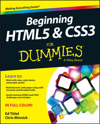Beginning HTML5 and CSS3 For Dummies (Paperback)