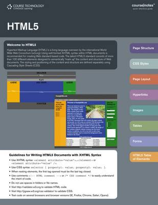 HTML 5 CourseNotes (CD-ROM)