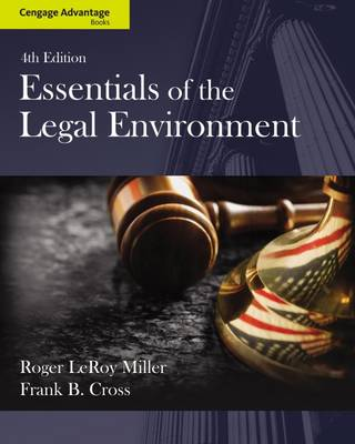 Cengage Advantage Books: Essentials of the Legal Environment (Paperback)