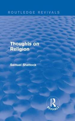 Thoughts on Religion - Routledge Revivals (Hardback)