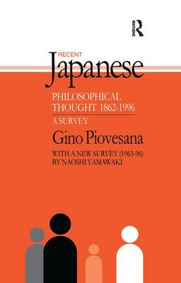 Cover Recent Japanese Philosophical Thought 1862-1994: A Survey