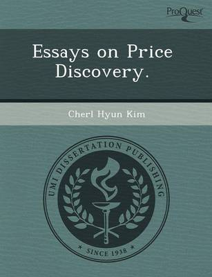 Essays on Price Discovery (Paperback)