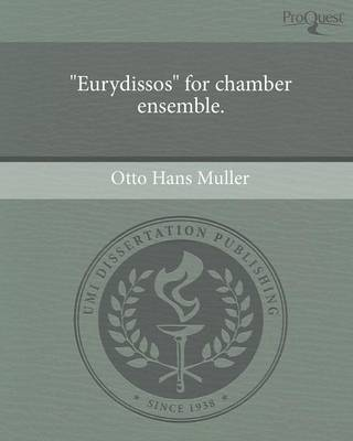 Eurydissos for Chamber Ensemble (Paperback)