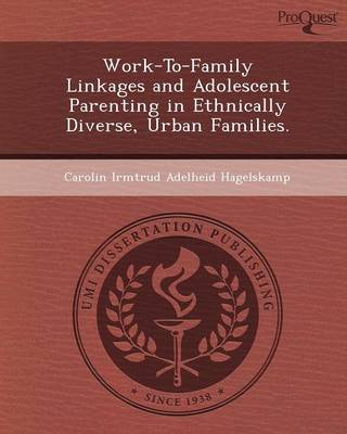 Work-To-Family Linkages and Adolescent Parenting in Ethnically Diverse (Paperback)