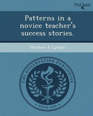 Patterns in a Novice Teacher's Success Stories (Paperback)