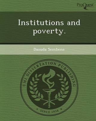 Institutions and Poverty (Paperback)