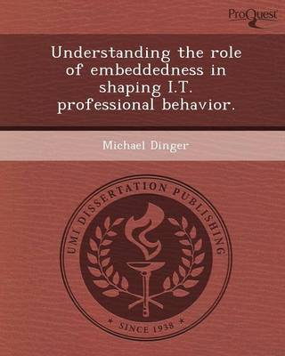 Understanding the Role of Embeddedness in Shaping I.T (Paperback)