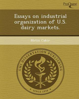 Essays on Industrial Organization of U.S (Paperback)