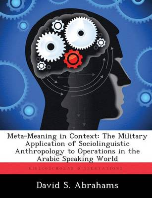 Meta-Meaning in Context: The Military Application of Sociolinguistic Anthropology to Operations in the Arabic Speaking World (Paperback)