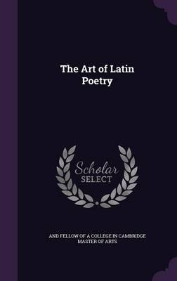 Cover The Art of Latin Poetry