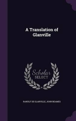 Cover A Translation of Glanville