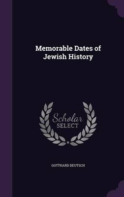 Cover Memorable Dates of Jewish History