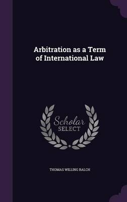 Cover Arbitration as a Term of International Law