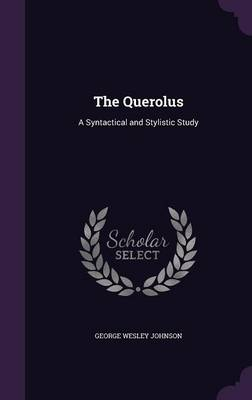 Cover The Querolus: A Syntactical and Stylistic Study