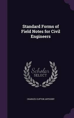 Cover Standard Forms of Field Notes for Civil Engineers