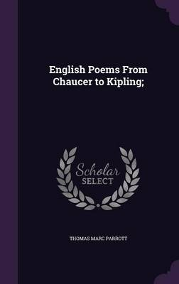 Cover English Poems from Chaucer to Kipling;