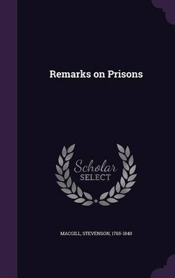 Cover Remarks on Prisons