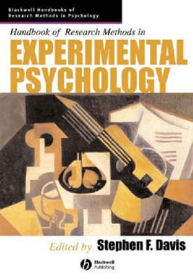 Handbook of Research Methods in Experimental Psychology - Blackwell Handbooks of Research Methods in Psychology (Paperback)