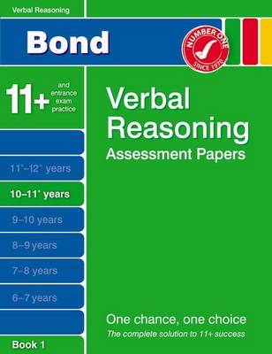 Bond Verbal Reasoning Assessment Papers 10-11+ Years Book 1 (Paperback)