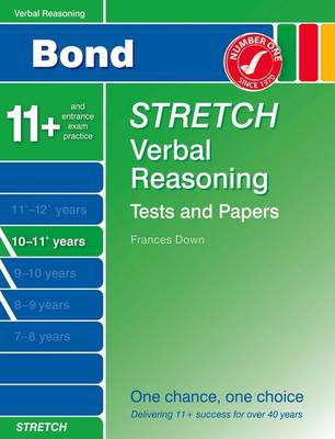 Bond Stretch Verbal Reasoning Tests and Papers 10-11+ Years (Paperback)