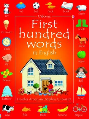 First Hundred Words in English - Usborne First Hundred Words (Paperback)