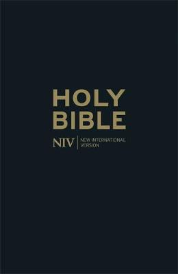 Niv Thinline Black Leather Bible - New International Version (Hardback)