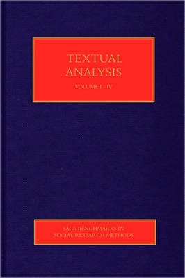 Textual Analysis - Sage Benchmarks in Social Research Methods (Hardback)