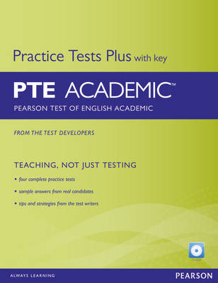Pearson Test of English Academic Practice Tests Plus and CD-ROM with Key Pack - Practice Tests Plus (Mixed media product)
