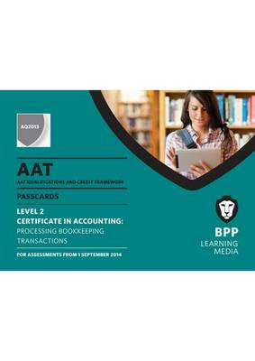 AAT Processing Bookkeeping Transactions: Passcards (Spiral bound)