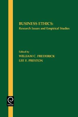 Business Ethics: Research Issues and Empirical Studies (Paperback)