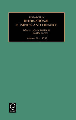 Research in International Business and Finance - Research in International Business & Finance v. 12 (Hardback)