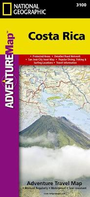 Costa Rica: Travel Maps International Adventure Map (Sheet map, folded)