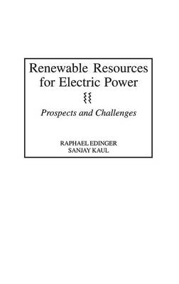 Renewable Resources for Electric Power: Prospects and Challenges (Hardback)