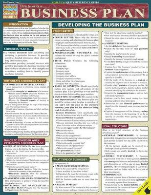 How to Write a Business Plan: Reference Guide (Other book format)
