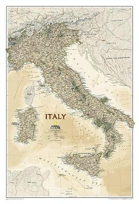 Italy Executive Flat: Wall Maps Countries & Regions (Sheet map)