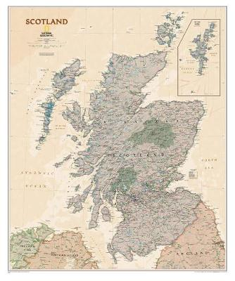 Scotland Executive, Laminated: Wall Maps Countries & Regions (Sheet map)