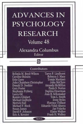 Advances in Psychology Research: Volume 48 (Hardback)