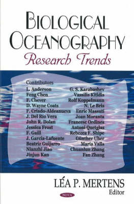 Biological Oceanography Research Trends (Hardback)