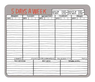 Knock Knock 5 Days a Week Hand-Lettered Mousepad - Paper Mousepad (Other printed item)