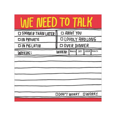 We Need to Talk Hand-Lettered Sticky Note - Hand-Lettered Sticky Notes (Stickers)