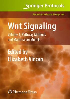 WNT Signaling: Pathway Methods and Mammalian Models Volume 1 - Methods in Molecular Biology 468 (Paperback)