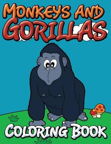 Monkeys and Gorillas Coloring Book (Paperback)