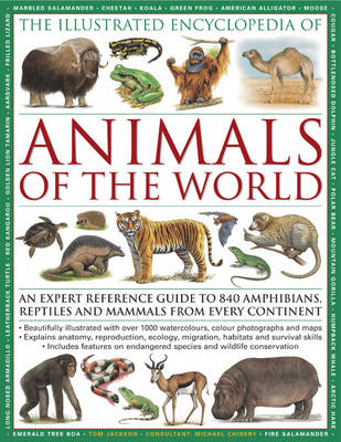 The Illustrated Encyclopedia of Animals of the World: An Expert Reference Guide to 840 Amphibians, Reptiles and Mammals from Every Continent (Paperback)