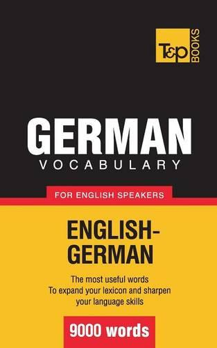 German Vocabulary for English Speakers - 9000 Words (Paperback)