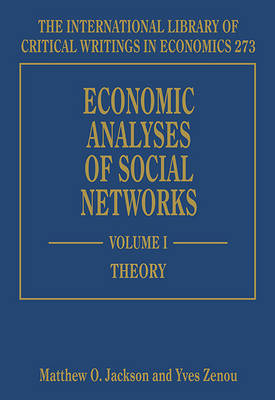 Cover Economic Analyses of Social Networks - The International Library of Critical Writings in Economics Series 273