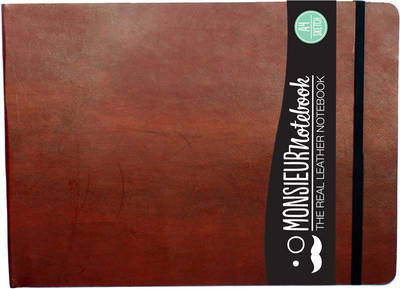 Monsieur Notebook- Real Leather Landscape A4 Brown Sketch (Notebook / blank book)