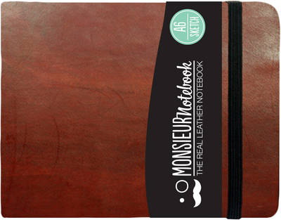Monsieur Notebook - Real Leather Landscape A6 Brown Sketch (Notebook / blank book)