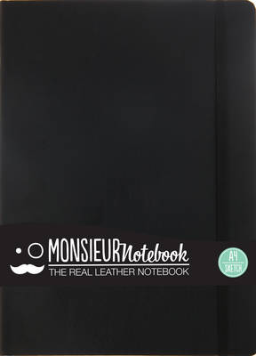 Monsieur Notebook - Real Leather A4 Black Sketch (Leather / fine binding)