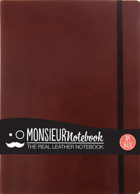 Monsieur Notebook - Real Leather A4 Brown Ruled (Leather / fine binding)