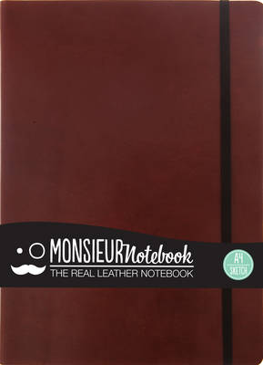 Monsieur Notebook - Real Leather A4 Brown Sketch (Leather / fine binding)